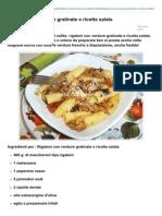 Blog.giallozafferano.it-rigatoni Con Verdure Gratinate e Ricotta Salata