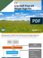 OpenSAP Fiori1 Week 04 Securing SAP Fiori UX