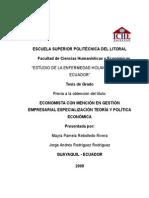 Estudio de La Enfermedad Holandesa en El Ecuador (1)