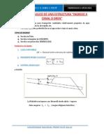 Diseño Hidráulico Ingreso a Canal o Dren - Santa Maria