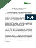 Medios de vida sostenibles y el PND K'atun 2032