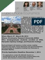 2015 Undergraduate Seminar on Public Choice