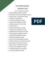Vb Project List