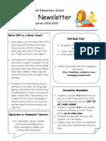 2nd quarter newsletter for families