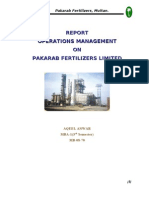 Operations Report-PAKARAB Fertilizers