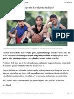 ¿Cómo escoger el deporte ideal para tu hijo? - BBC Mundo