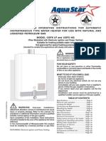 Aquastar 125FX Manual