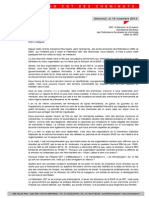 Lettre Unsa Cfdt