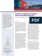 Parameters of Engagement and Turkey's Limits in the Coalition Against ISIS