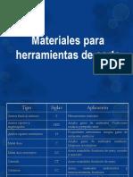 materiales para herramientas de corte