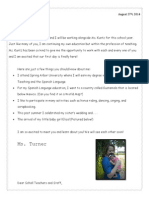 ms turners introduction letter