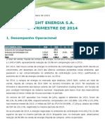 Press-release referente ao 3T14