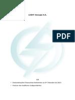 ITR 3? Trimestre 2014 Light Energia