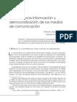 Derecho a La Información y Democratización