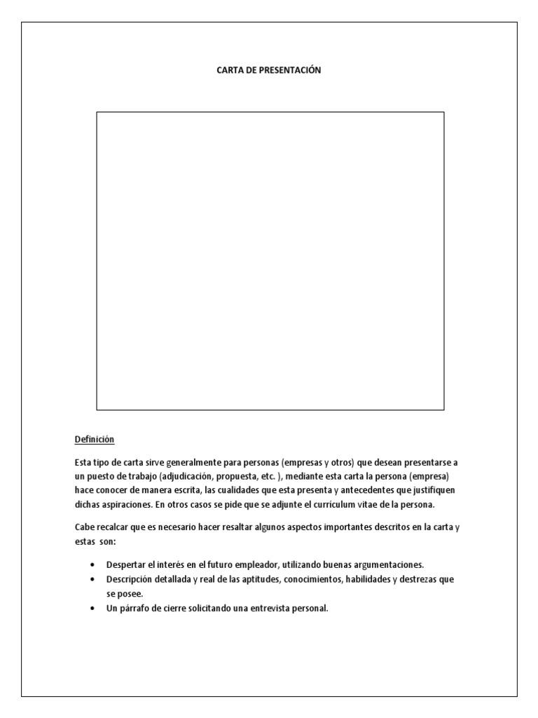 Magnífico Resume La Definición De La Carta De Presentación Imagen ...