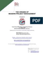 P050 Origins of Modern PM