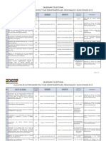 Calendario Electoral 2015