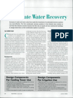 Condensate Water Recovery