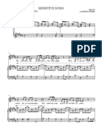 Sensitive Song Sheet Music