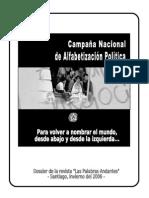 Campaña Nacional de Alfabetización  Política - Dossier Las Palabras Andantes  N°3 (2006)