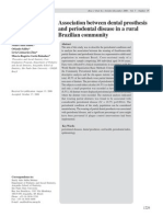 Association Between Dental Prosthesis and Periodontal Disease in a Rural Brazilian Community