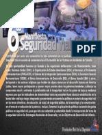 SEXTO Manifiesto  POR LA SEGRUIDAD VIAL 2014