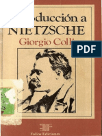 Colli - Introduccion a Nietzsche