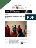 Fluroquinolone India Cipro & Ibuprofen Dead