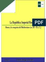La República Imperial Romana, La Conquista Del Mediterraneo