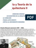 11 Semana Le Corbusier y Fllw