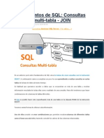 Consultas SQL Multi-tabla JOIN