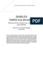 Dobles Especialidades Curso 2014 15