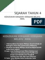 Kedudukan Kerajaan Melayu Awal