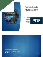Portafolio de Presentación Luis Aguilar A01101543