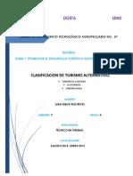 CLASIFICACION DE TURISMO ALTERNATIVO DE OAXACA Y SUS ALREDEDORES