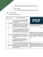 Informe de Actividades Realizadas Homologación Savia Peru 2014