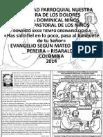 Hojita Evangelio Domingo Xxxiii to a Bn