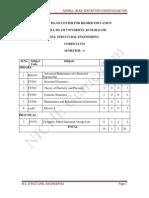 M.E. Structural Curriculum