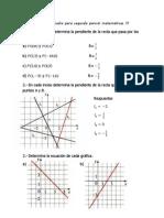 Guía de Estudio Para Segundo Parcial Matemáticas III Semestral