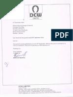 DCW Quareterly Results