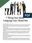 & Coisas Que a Linguagem Do Corpo Diz Sobre Voce