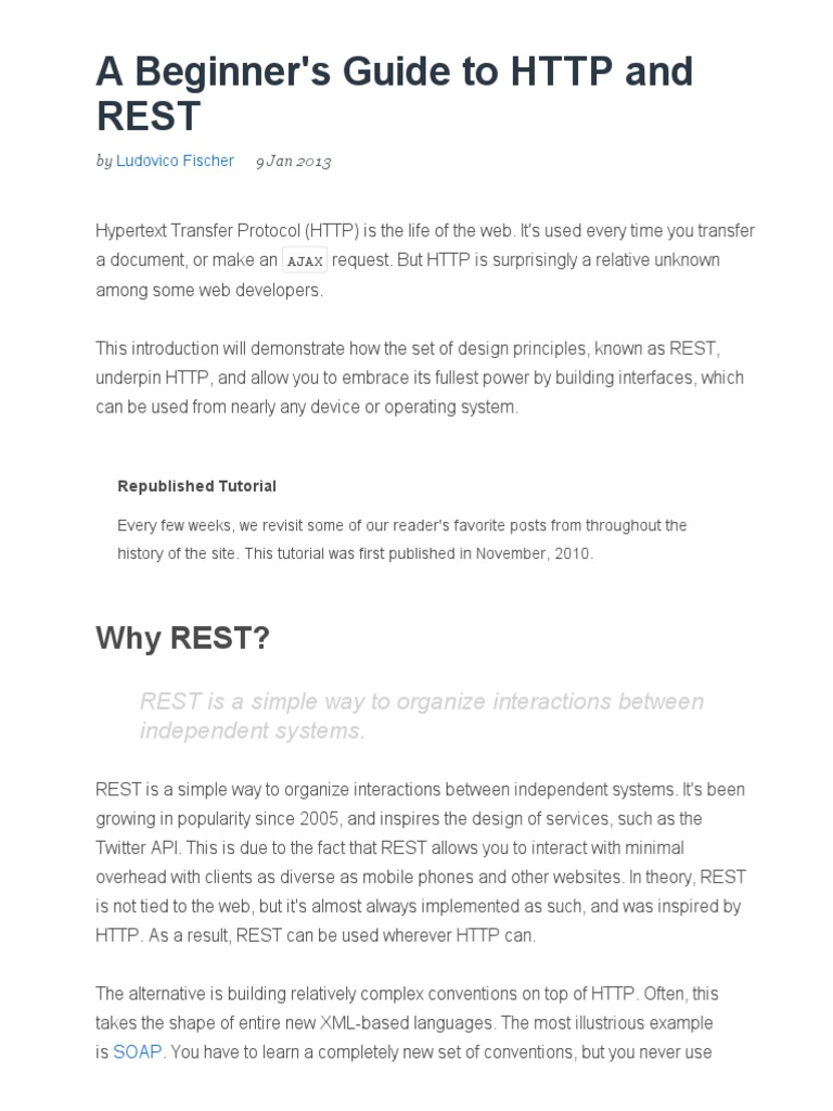 A beginners guide to http and rest tuts code tutorial a beginners guide to http and rest tuts code tutorial representational state transfer hypertext transfer protocol baditri Gallery