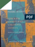 Pierre Hadot Ejercicios Espirituales y Filosofia Antigua PDF