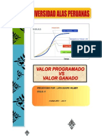 Informe_valor Programado vs Valor Ganado