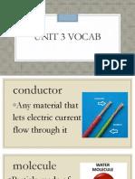 unit 3 vocab
