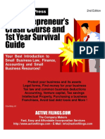 The Entrepreneur's Crash Course and 1st Year Survival Guide