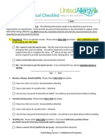 New Hire Medical Checklist 4.27.12