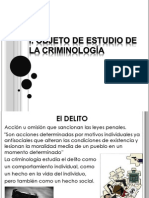 Objeto de estudio de la criminología
