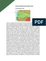 Problemas Limítrofes de Ecuador y Peru Sol