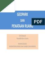 Geopark dan Penataan Ruang
